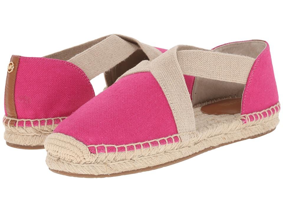 MICHAEL Michael Kors - Dana Espadrille (Raspberry Small Weave Canvas/Vachetta) Women's Shoes