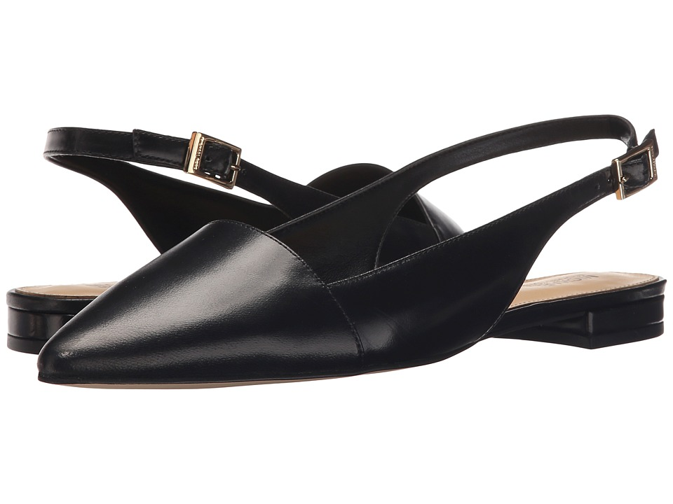 MICHAEL Michael Kors - Claudia Flat (Black Smooth Kid) Women's Shoes
