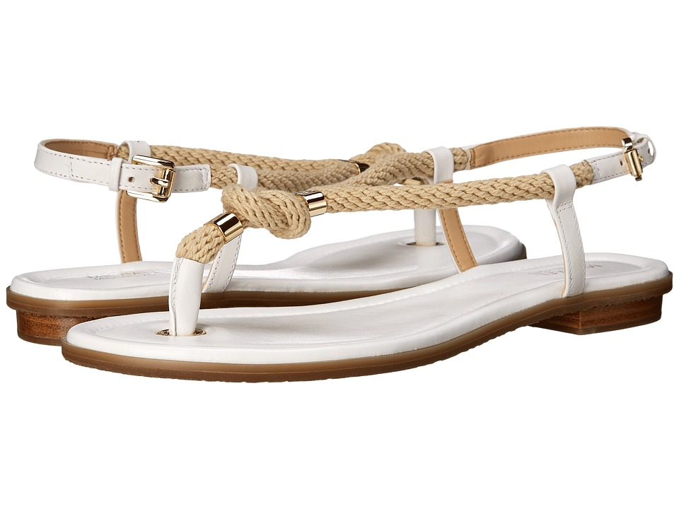 MICHAEL Michael Kors Holly Sandal (Optic White Rope/Vachetta) Women