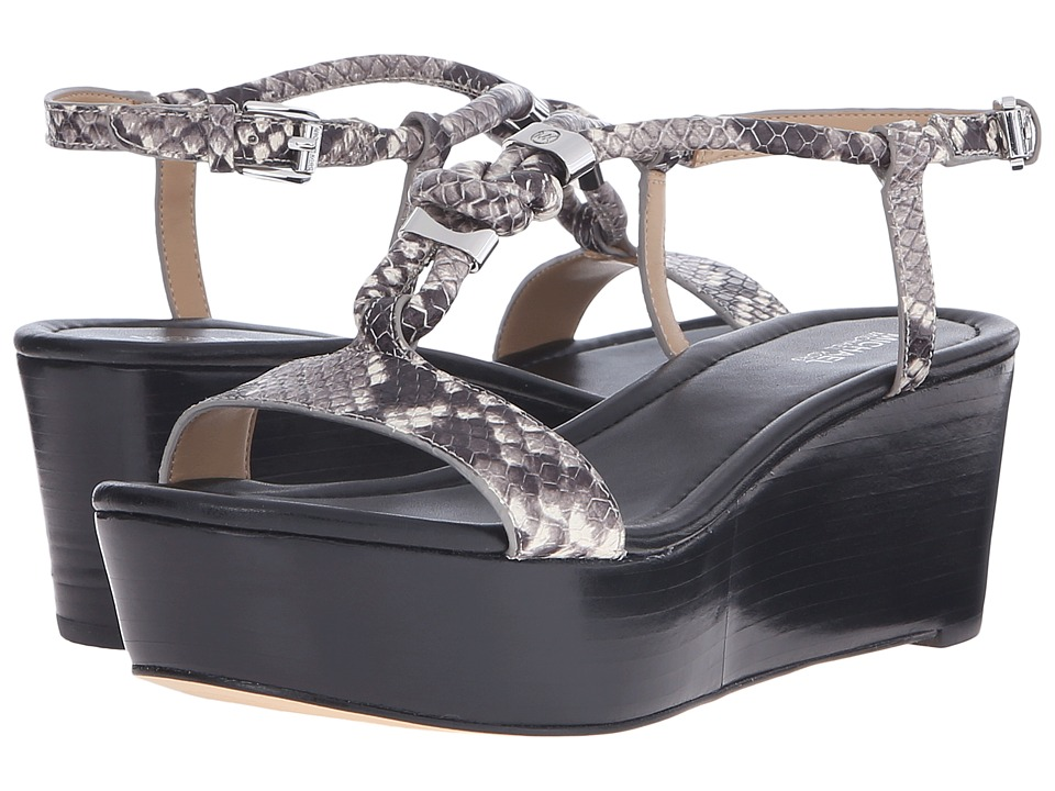 MICHAEL Michael Kors - Holly Flatform (Natural Luxury Embossed Python Merlot) Women's Sandals