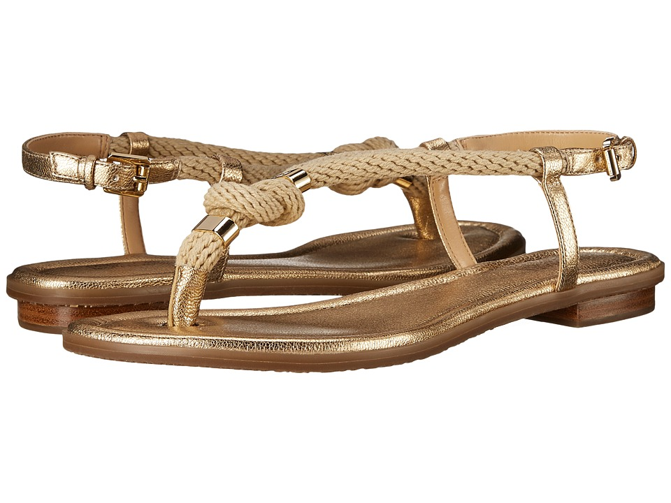 MICHAEL Michael Kors - Holly Sandal (Pale Gold Rope/Tumbled Metallic) Women's Sandals