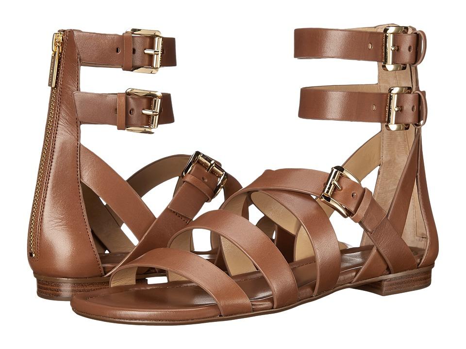 MICHAEL Michael Kors - Jocelyn Flat Sandal (Luggage Vachetta) Women's Sandals