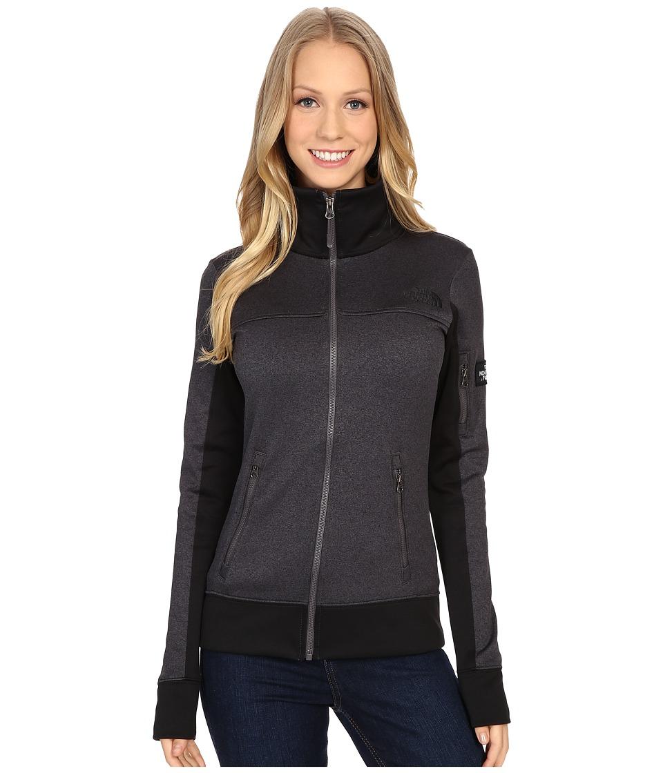 The North Face - Mazie Mays Full Zip (TNF Dark Grey Heather/TNF Black) Women's Jacket