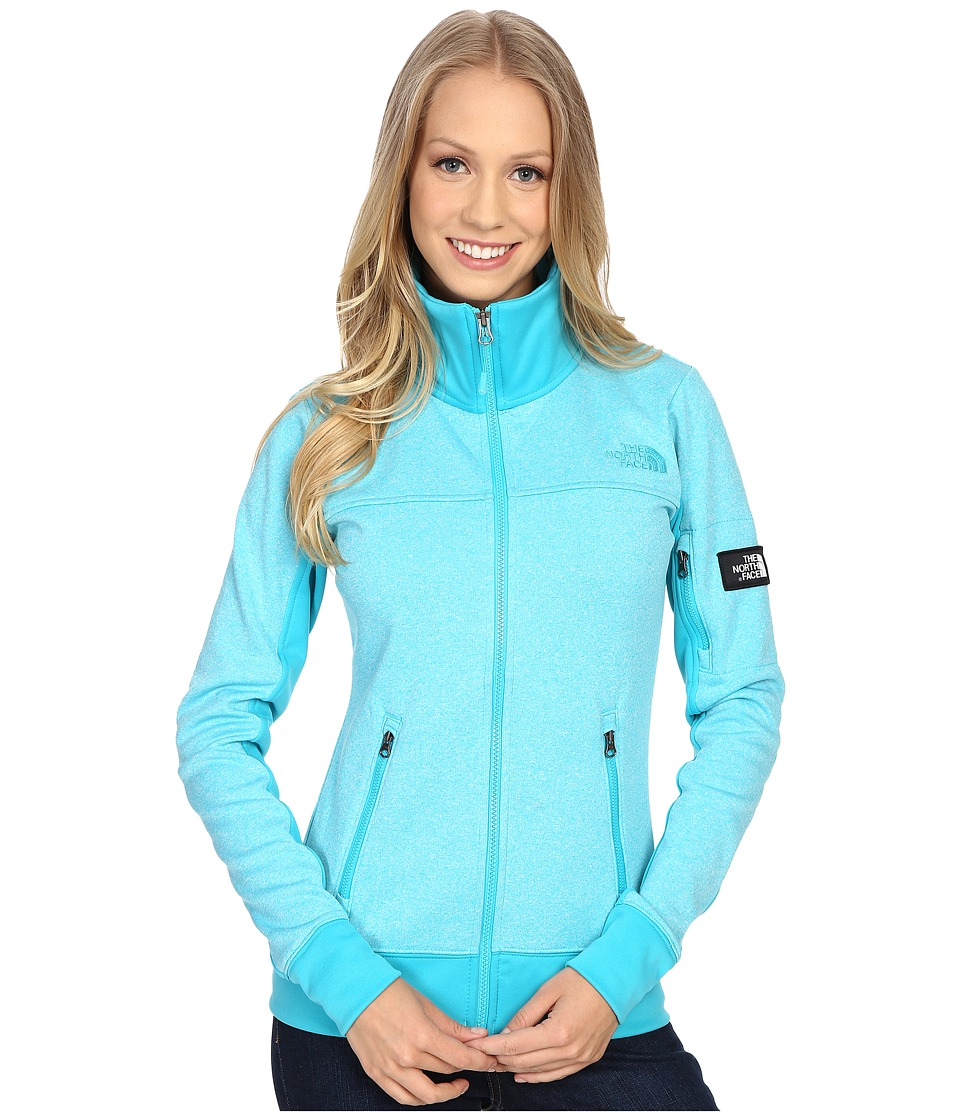 The North Face - Mazie Mays Full Zip (Bluebird Heather/Bluebird (Prior Season)) Women's Jacket