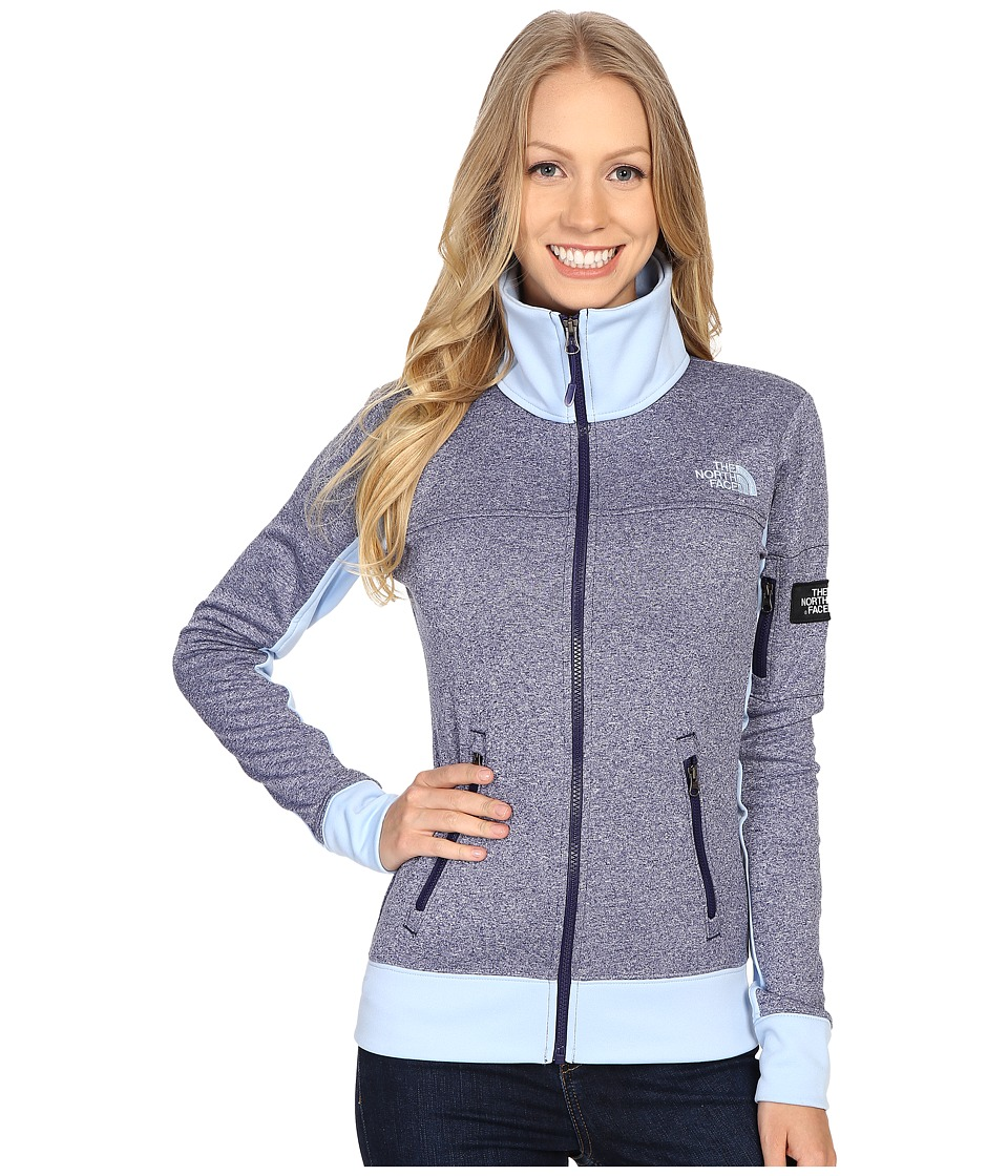 The North Face - Mazie Mays Full Zip (Patriot Blue Heather/Powder Blue) Women's Jacket