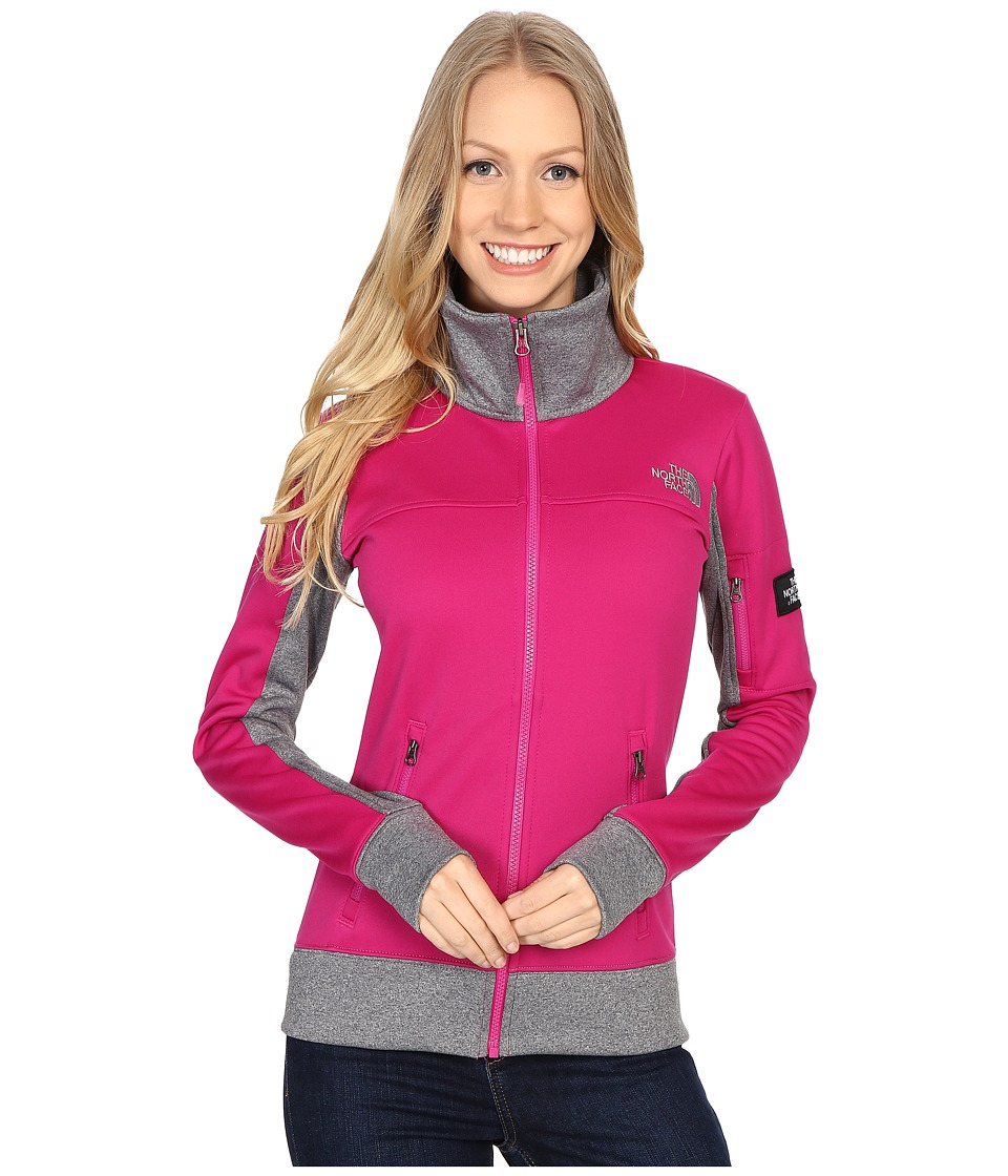The North Face - Mazie Mays Full Zip (Fuchsia Pink/TNF Medium Grey Heather) Women's Jacket