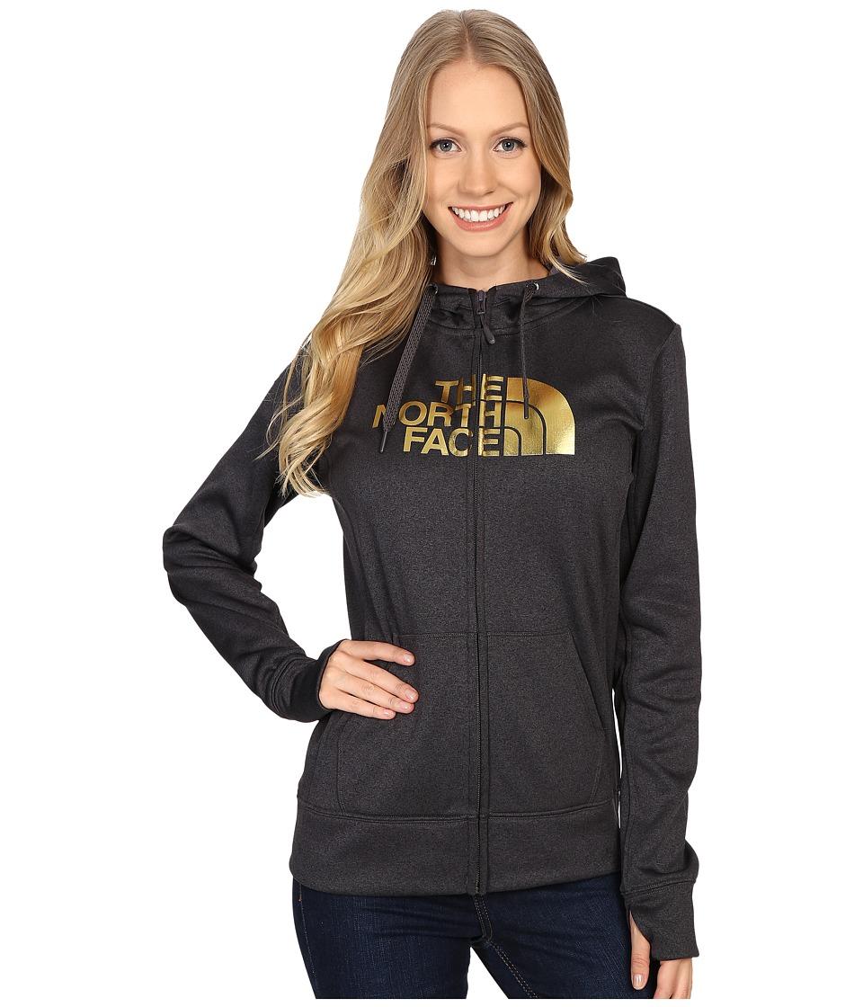 The North Face - Fave Half Dome Full Zip Hoodie (TNF Dark Grey Heather/Gold Foil) Women's Sweatshirt