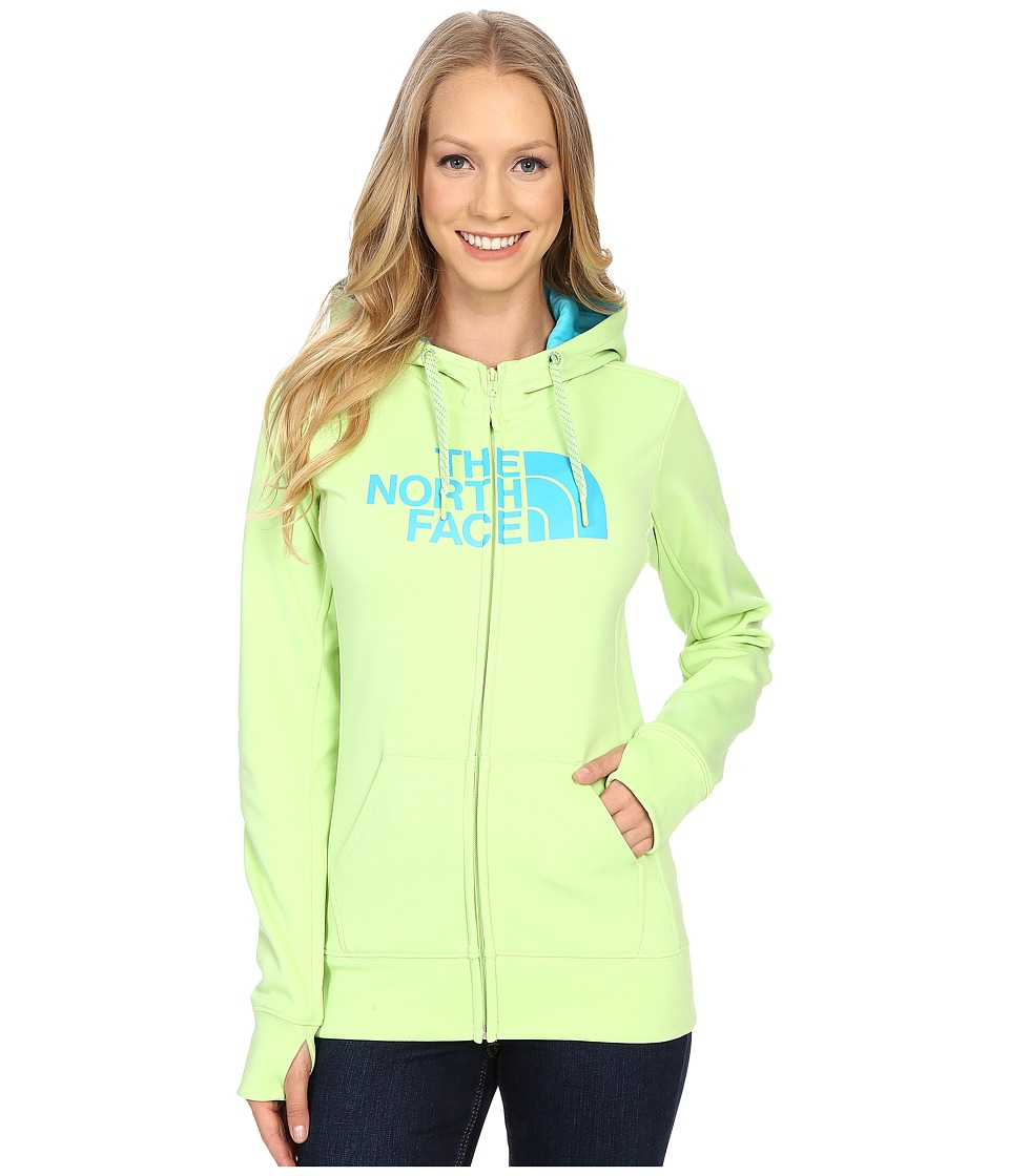 The North Face - Fave Half Dome Full Zip Hoodie (Budding Green/Bluebird) Women's Sweatshirt