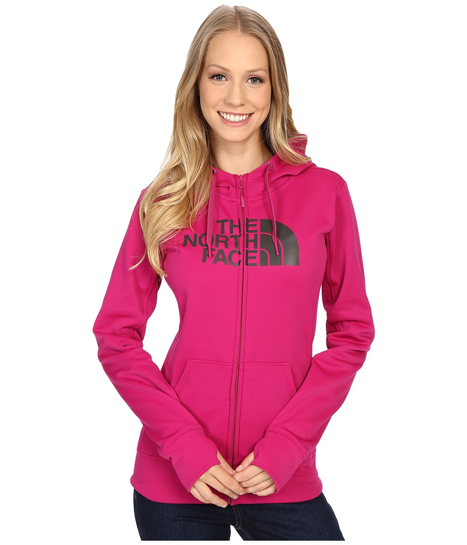 The North Face - Fave Half Dome Full Zip Hoodie (Fuchsia Pink/Asphalt Grey) Women's Sweatshirt