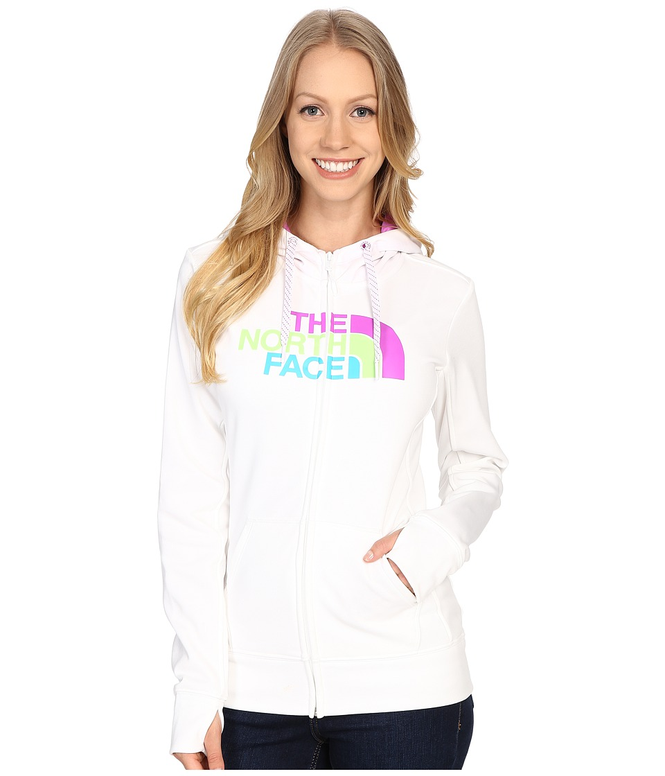 The North Face - Fave Half Dome Full Zip Hoodie (TNF White/Sweet Violet Multi) Women's Sweatshirt