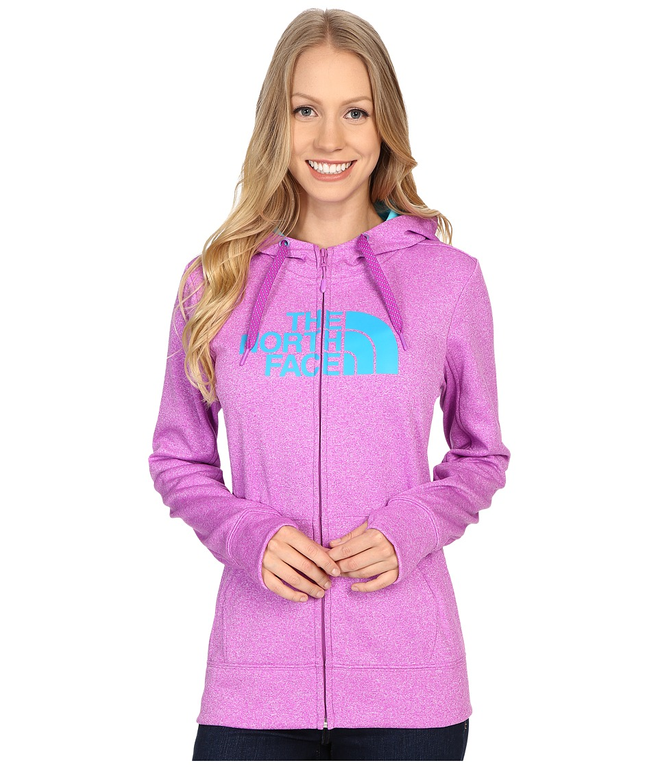 The North Face - Fave Half Dome Full Zip Hoodie (Sweet Violet Heather/Bluebird) Women's Sweatshirt