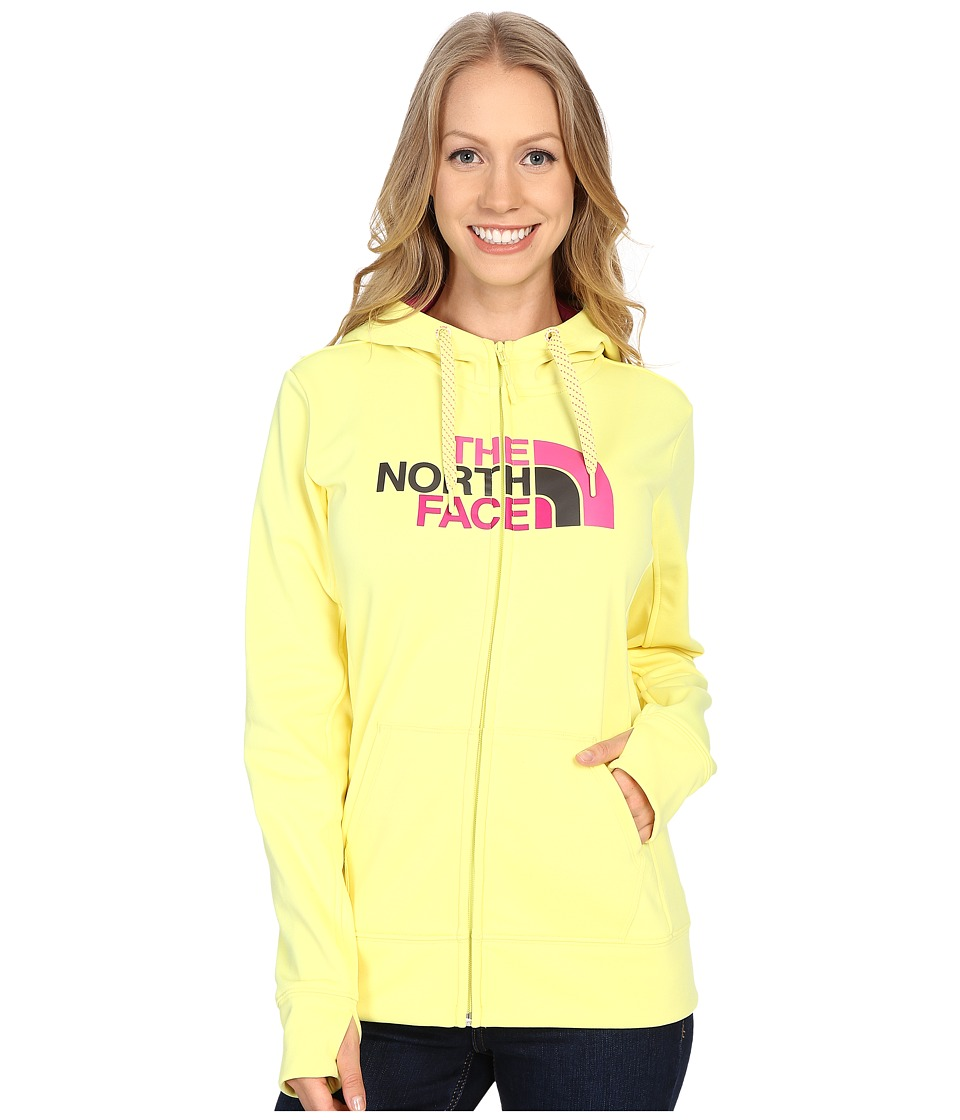 The North Face Fave Half Dome Full Zip Hoodie (Hamachi Yellow/Raspberry Rose Multi) Women