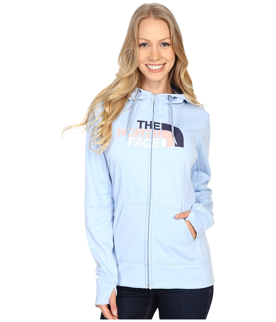 The North Face - Fave Half Dome Full Zip Hoodie (Powder Blue/Patriot Blue Multi) Women's Sweatshirt