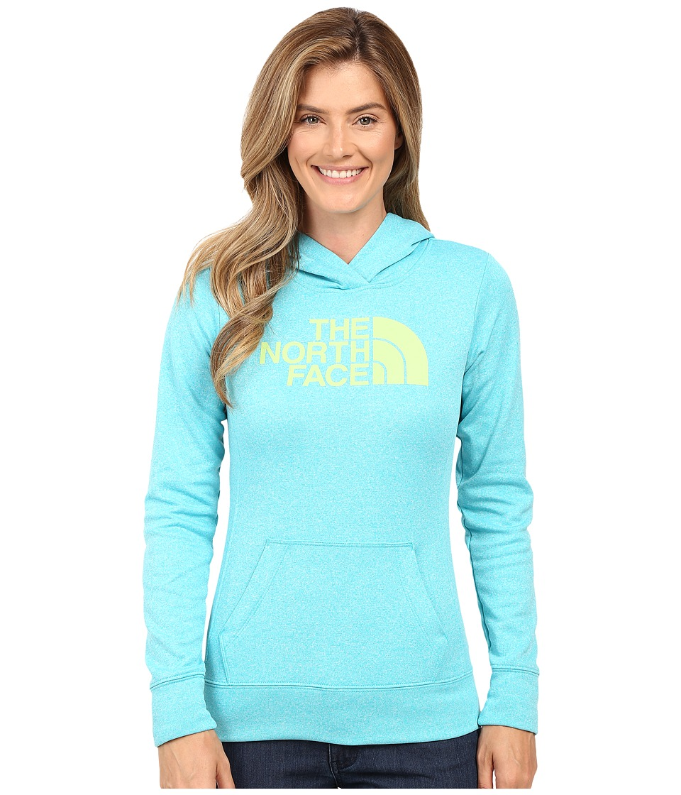 The North Face - Fave Half Dome Pullover Hoodie (Bluebird Heather/Budding Green) Women's Sweatshirt