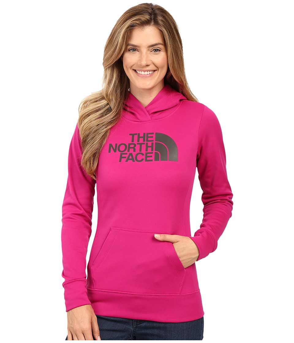 The North Face - Fave Half Dome Pullover Hoodie (Fuchsia Pink/Asphalt Grey) Women's Sweatshirt