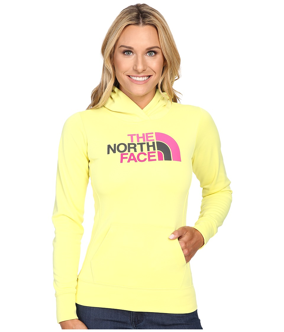 The North Face - Fave Half Dome Pullover Hoodie (Hamachi Yellow/Raspberry Rose Multi) Women's Sweatshirt