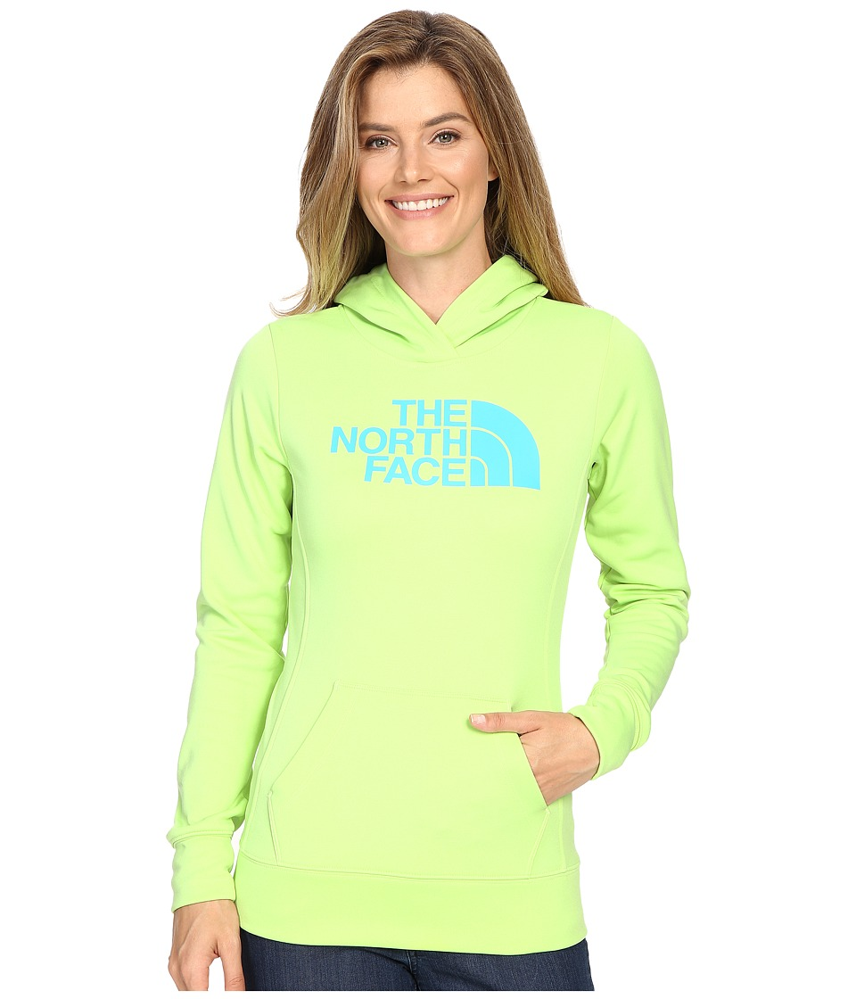 The North Face - Fave Half Dome Pullover Hoodie (Budding Green/Bluebird) Women's Sweatshirt