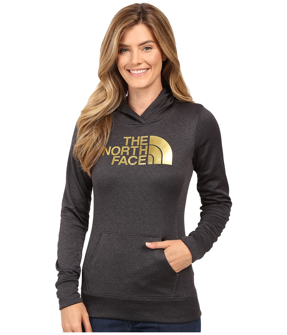 The North Face - Fave Half Dome Pullover Hoodie (TNF Dark Grey Heather/Gold Foil) Women's Sweatshirt