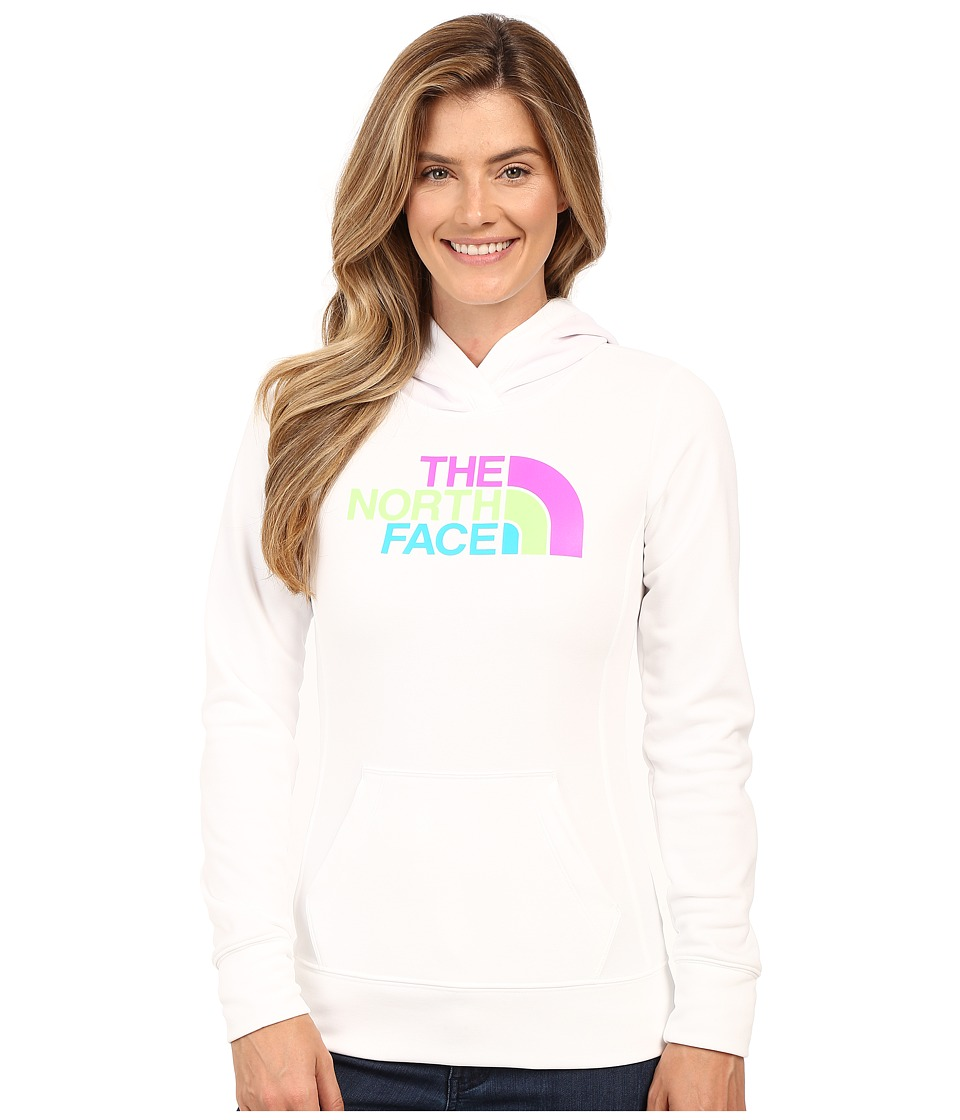 The North Face - Fave Half Dome Pullover Hoodie (TNF White/Sweet Violet Multi) Women's Sweatshirt