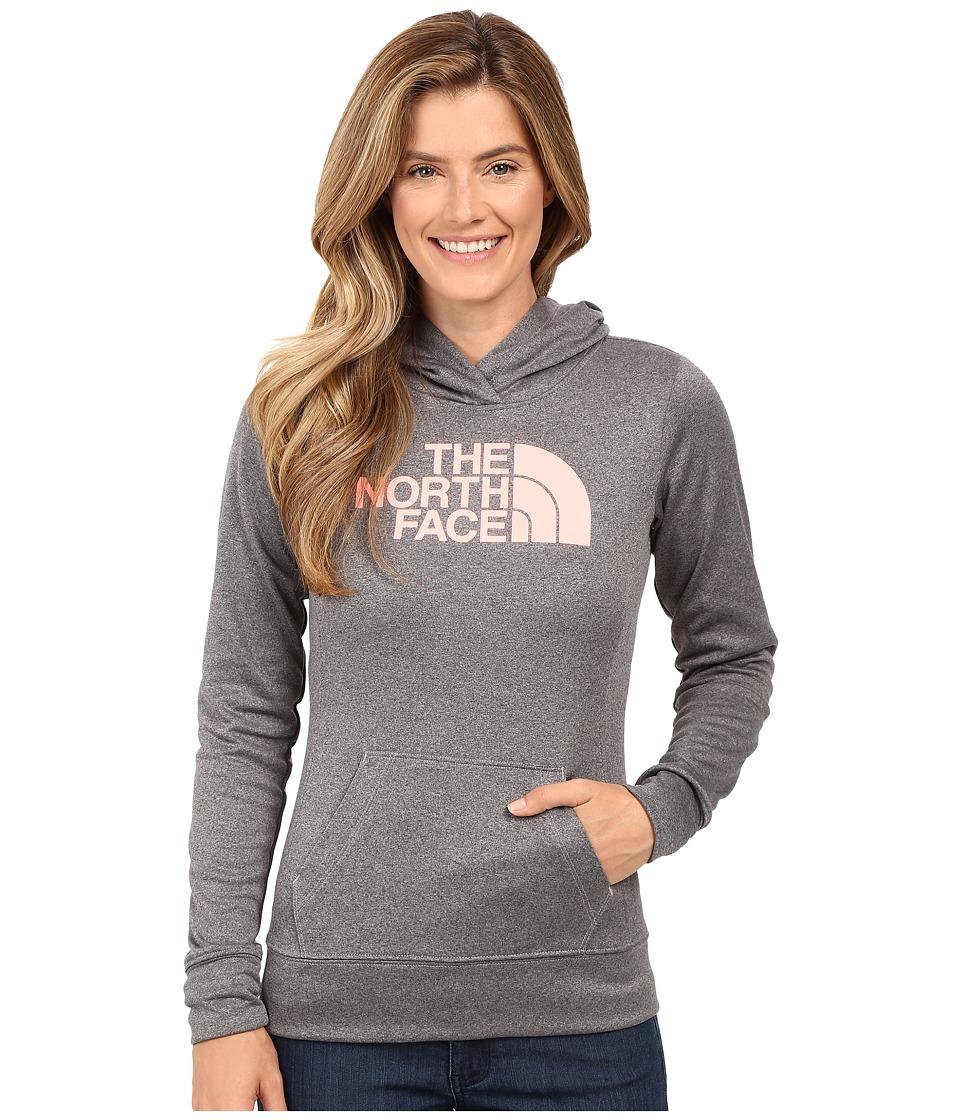 The North Face - Fave Half Dome Pullover Hoodie (TNF Medium Grey Heather/Neon Peach) Women's Sweatshirt