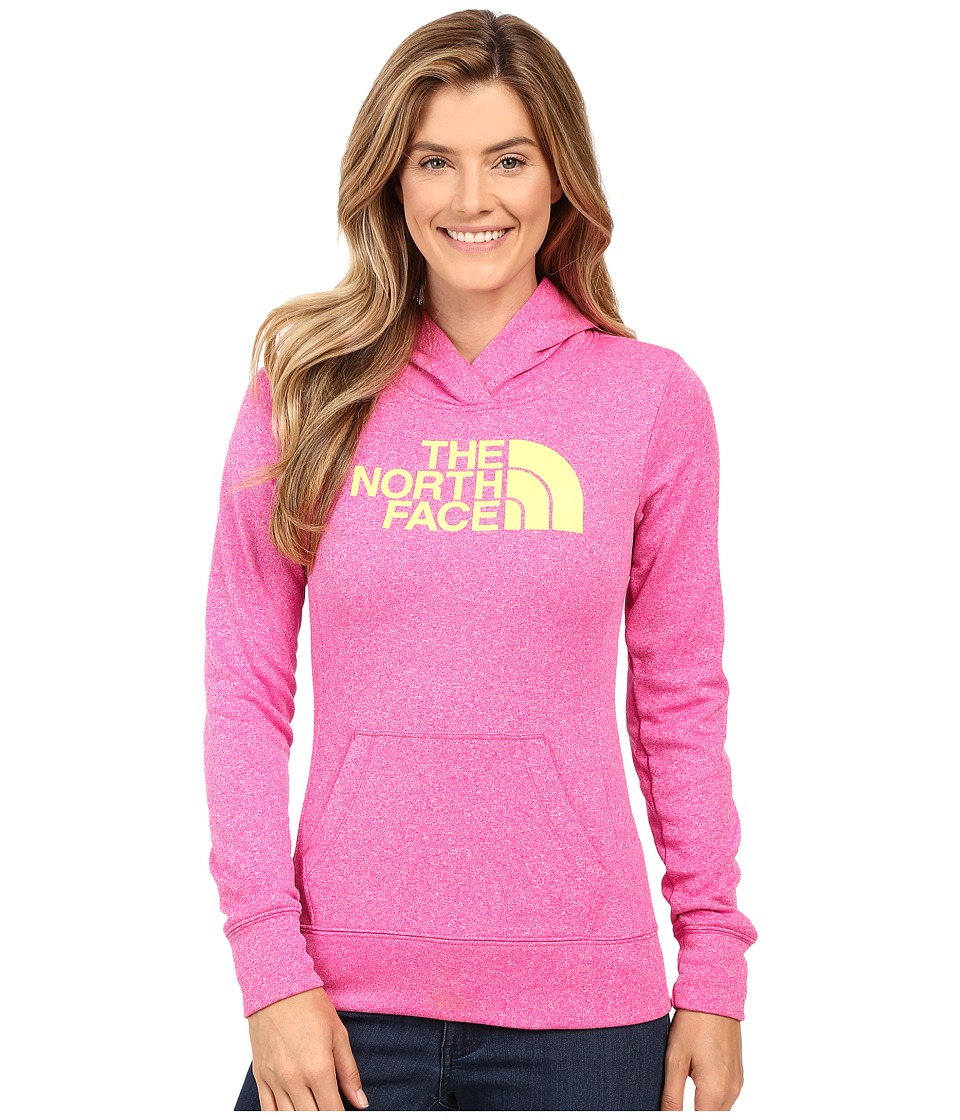 The North Face - Fave Half Dome Pullover Hoodie (Raspberry Rose Heather/Hamachi Yellow) Women's Sweatshirt