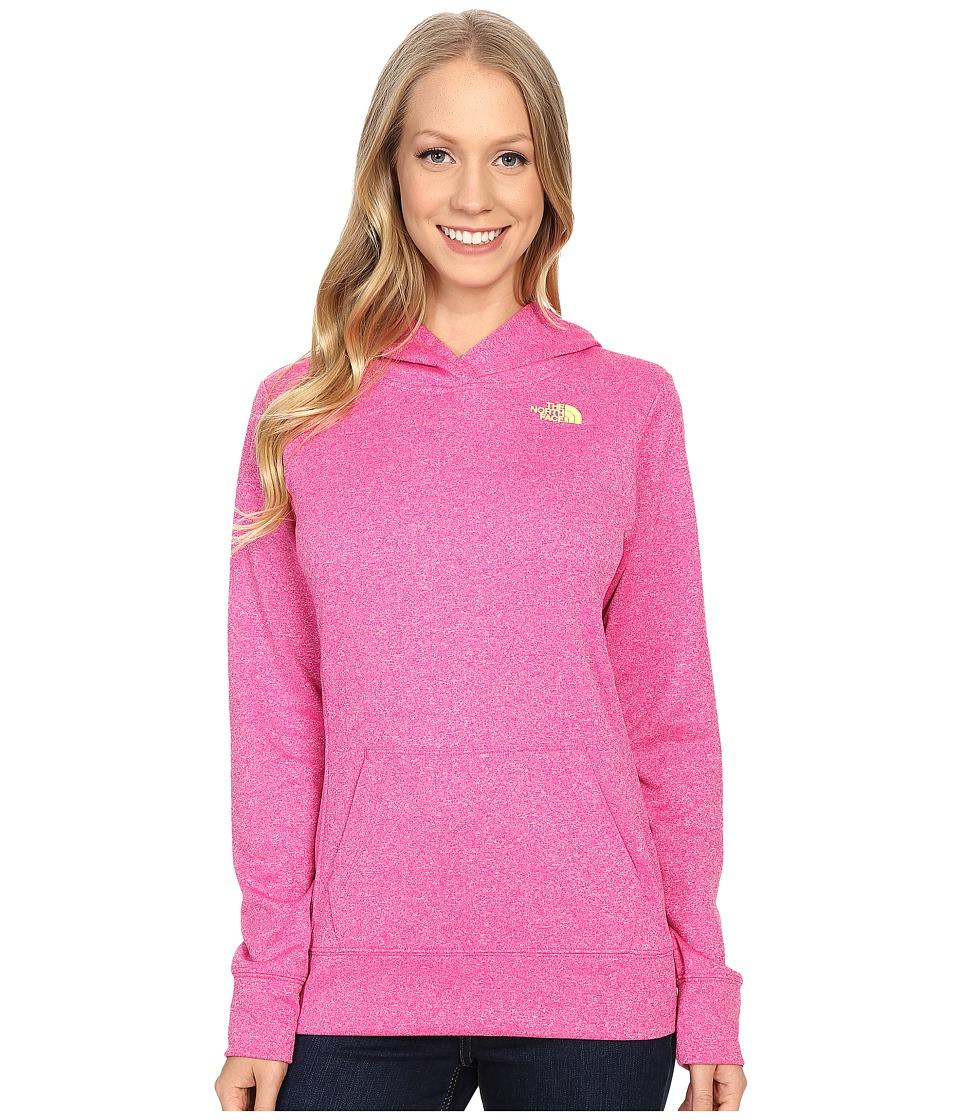 The North Face - LFC Fave Hoodie (Raspberry Rose Heather/Hamachi Yellow) Women's Sweatshirt