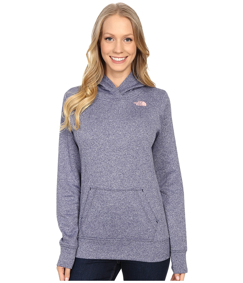 The North Face LFC Fave Hoodie (Patriot Blue Heaher/Neon Peach) Women