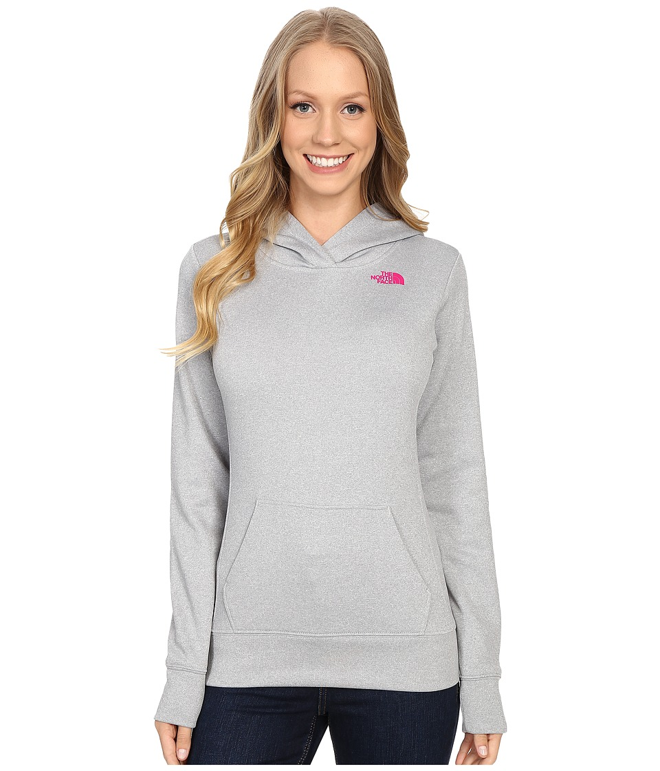 The North Face LFC Fave Hoodie (TNF Light Grey Heather/Fuchsia Pink) Women
