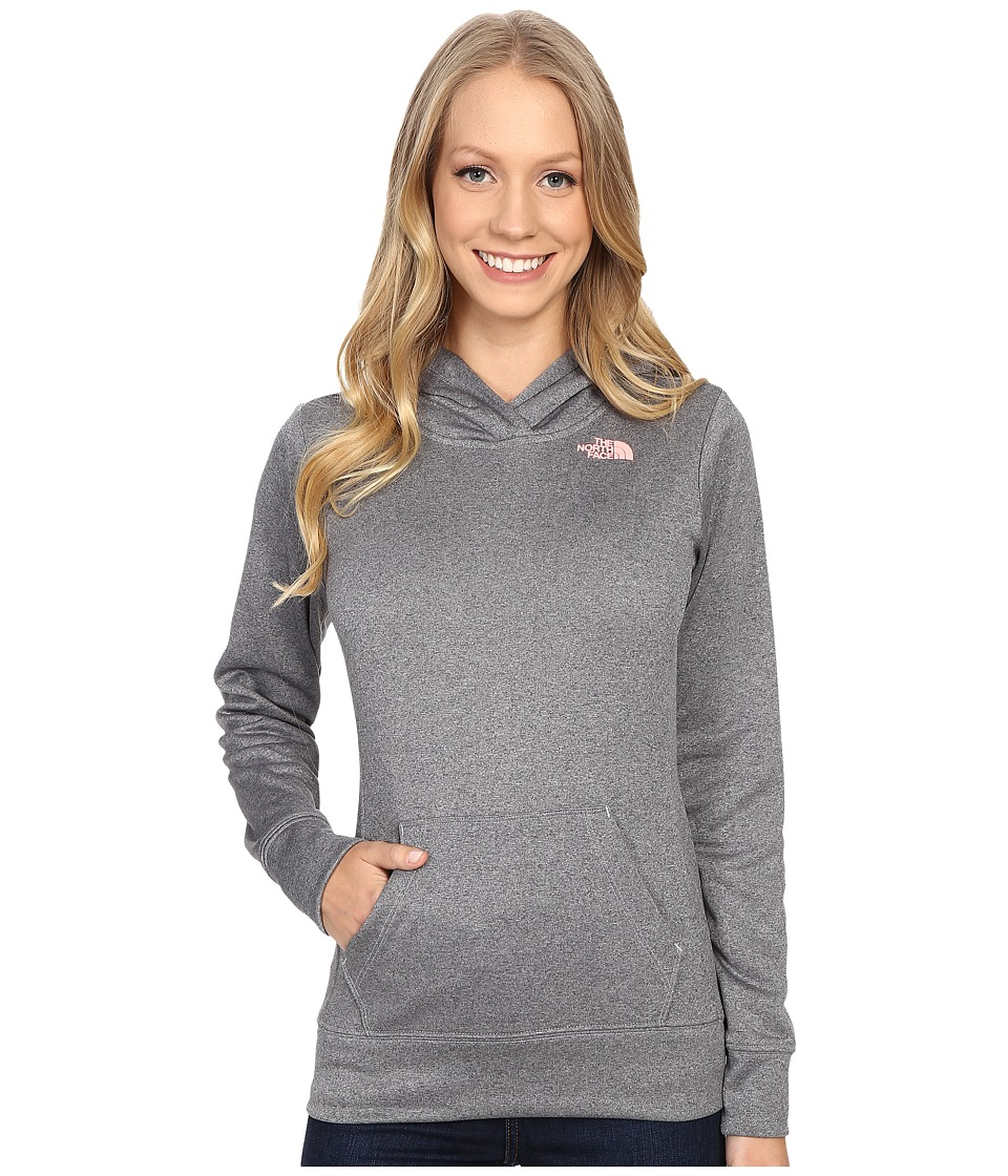 The North Face - LFC Fave Hoodie (TNF Medium Grey Heather/Neon Peach) Women's Sweatshirt