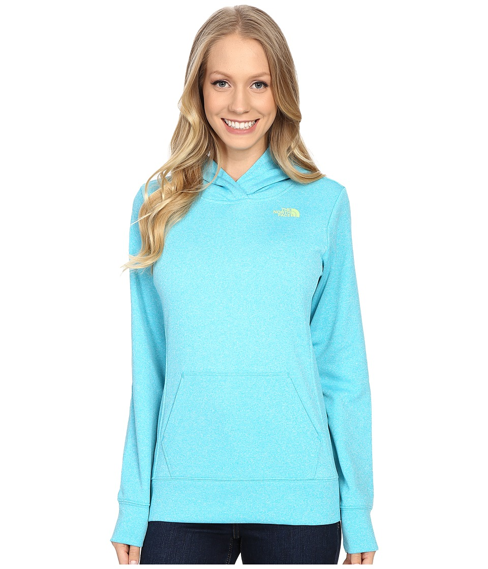 The North Face LFC Fave Hoodie (Bluebird Heather/Budding Green) Women