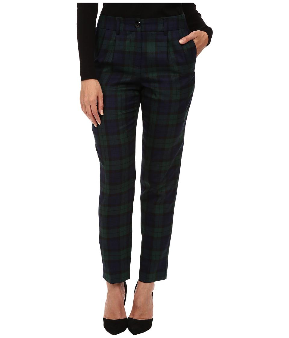 Pendleton - Petite Dani Pants (Black Watch Worsted Tartan) Women's Casual Pants