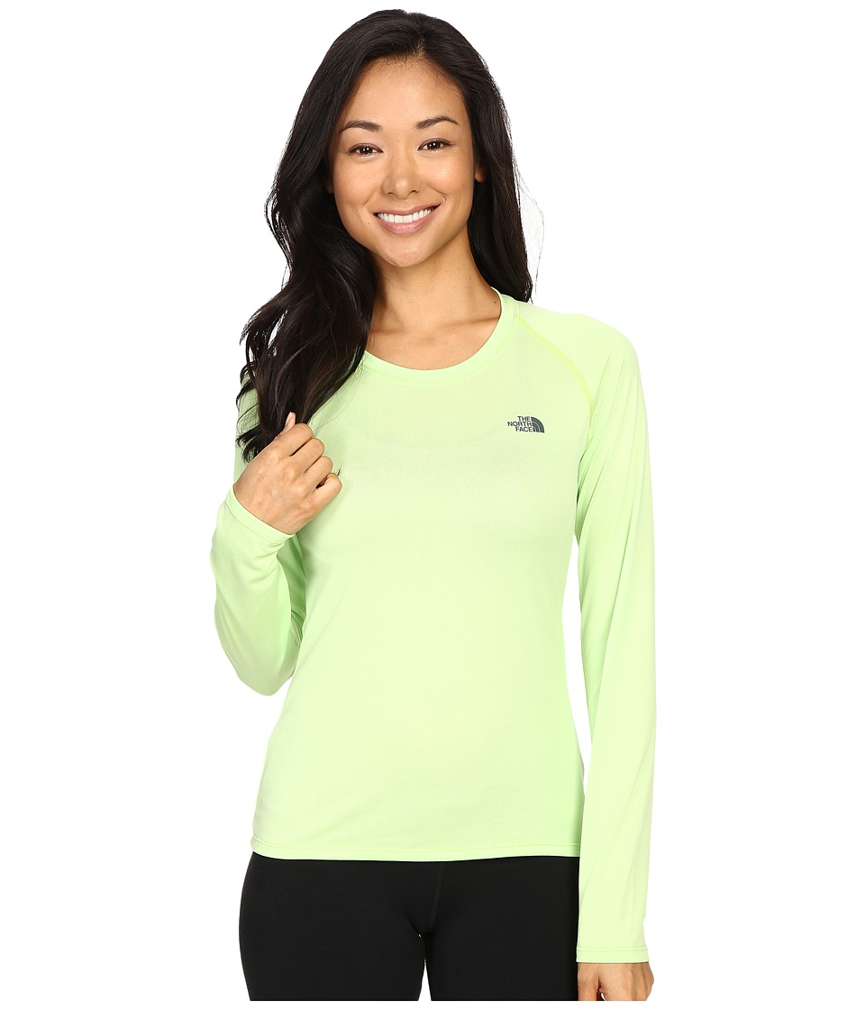 The North Face - Long Sleeve LFC Reaxion Tee (Budding Green/Spruce Green) Women
