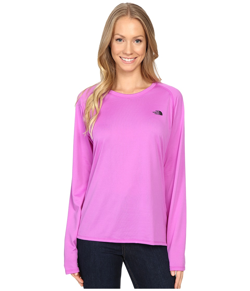 The North Face - Long Sleeve LFC Reaxion Tee (Sweet Violet/TNF Black) Women