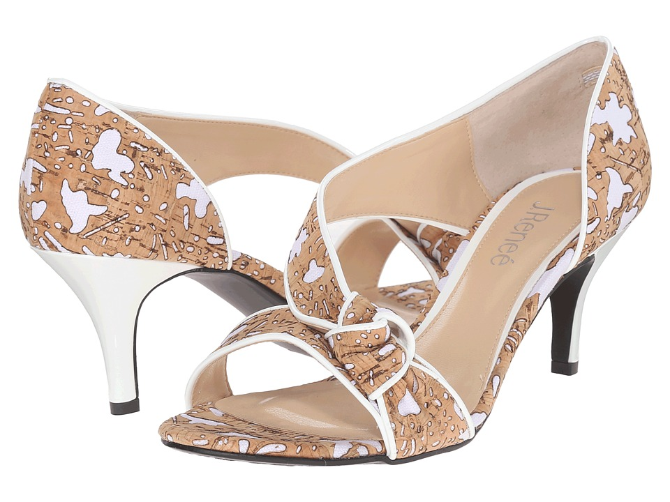 J. Renee Jaynnie (Cork/White) High Heels