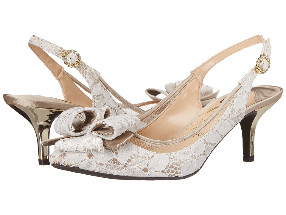 J. Renee Garbi (White/Nude) High Heels