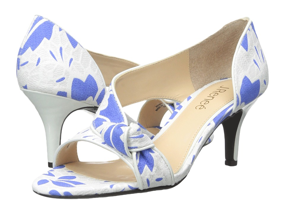 J. Renee - Jaynnie (Blue/White) High Heels