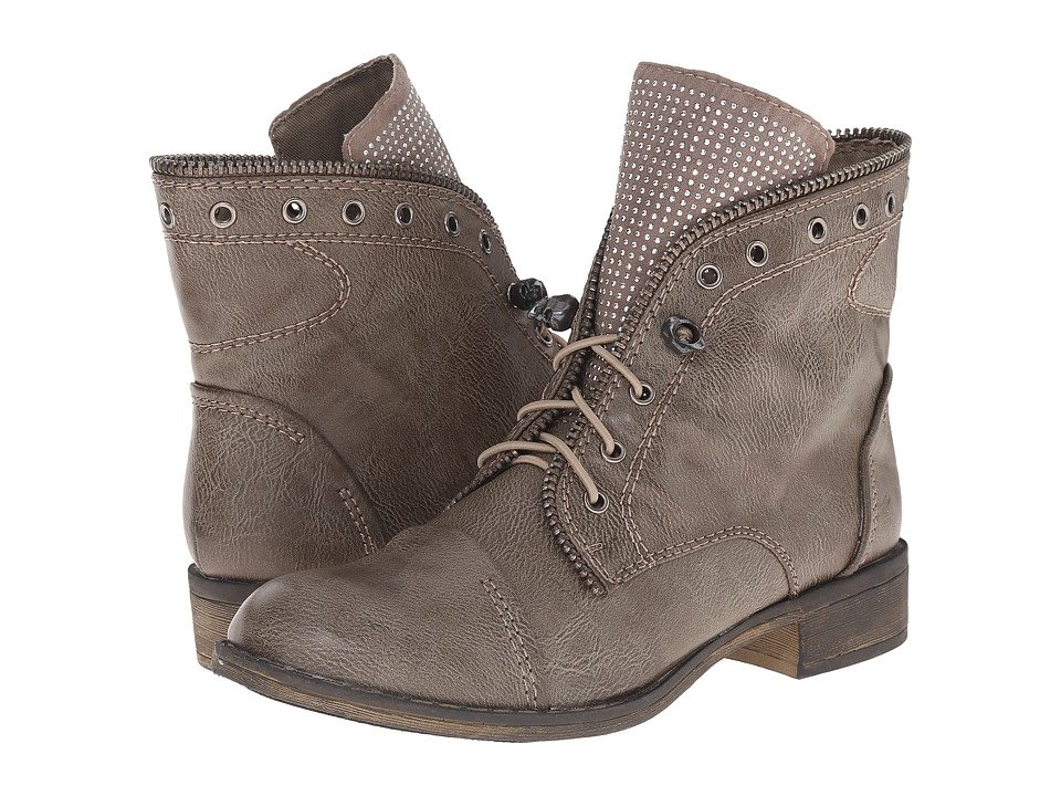 Report - Nyles (Grey) Women's Lace-up Boots