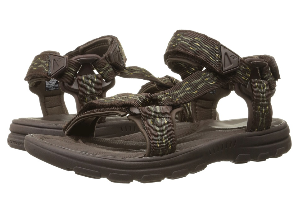 SKECHERS - Relaxed Fit 360 Bravelen - Drito (Dark Brown) Men's Sandals
