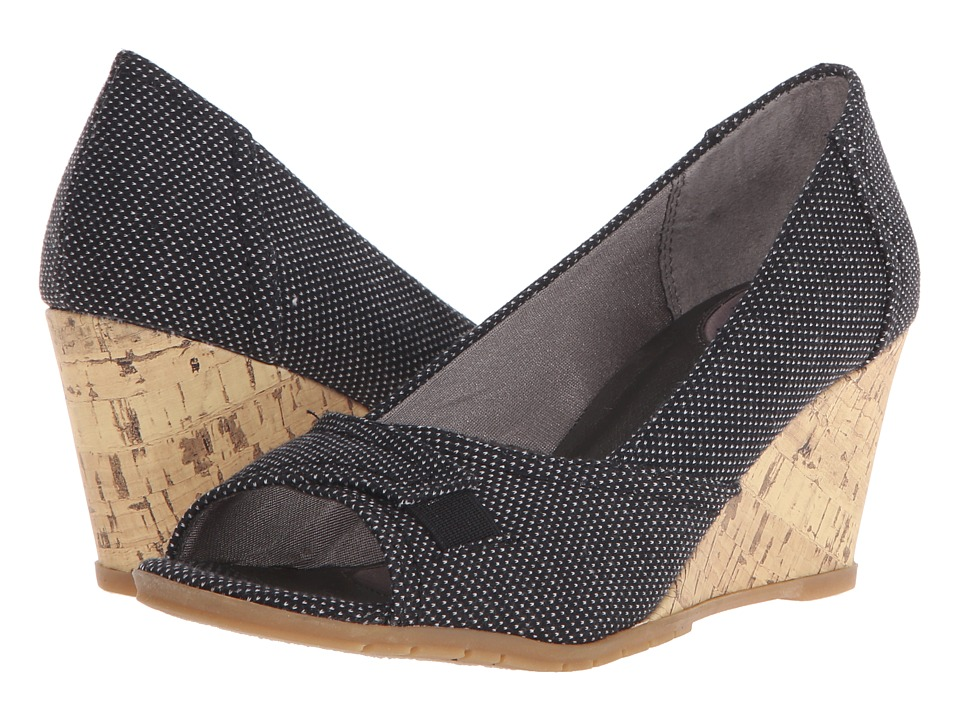LifeStride - Promote (Black Cage Fabric/Cork) Women's Flat Shoes