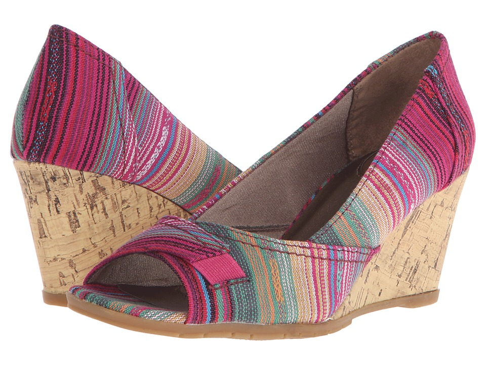 LifeStride - Promote (Pink Multi Urban Fabric/Cork) Women's Flat Shoes