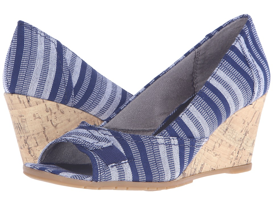 LifeStride - Promote (Navy Multi Urban Fabric/Cork) Women's Flat Shoes