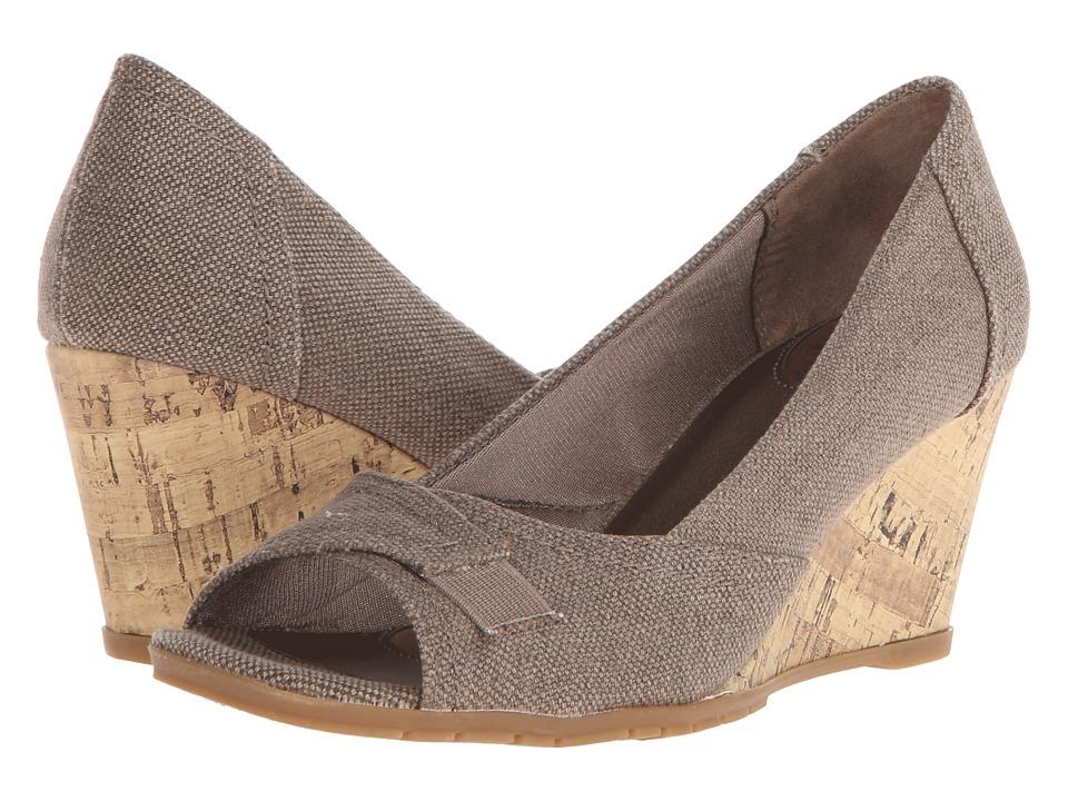 LifeStride - Promote (Brown Texture/Canvas) Women's Flat Shoes