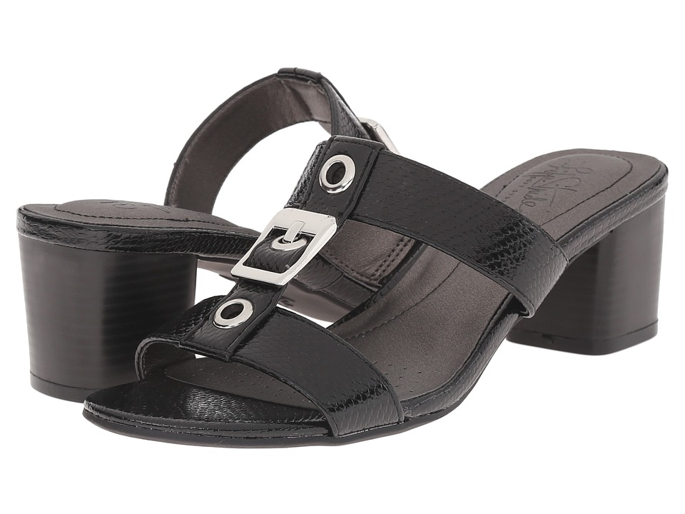 LifeStride - Rayana (Black Snake Patent) Women's Sandals