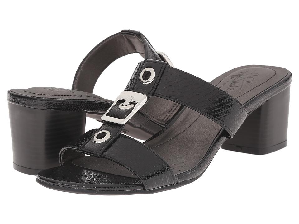 LifeStride - Rayana (Black Snake Patent) Women's Sandals