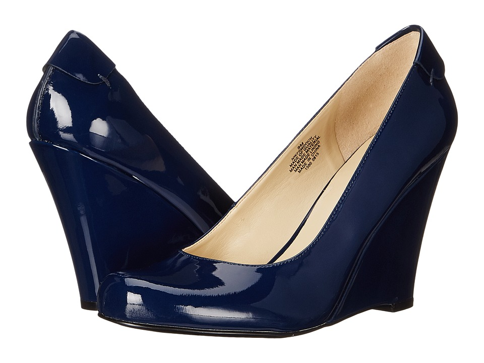 Nine West - Smooch (Navy Synthetic) Women's Slip-on Dress Shoes