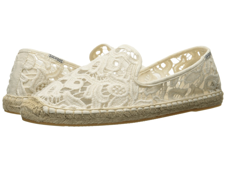 Soludos Smoking Slipper Tulip Lace (Ivory) Women