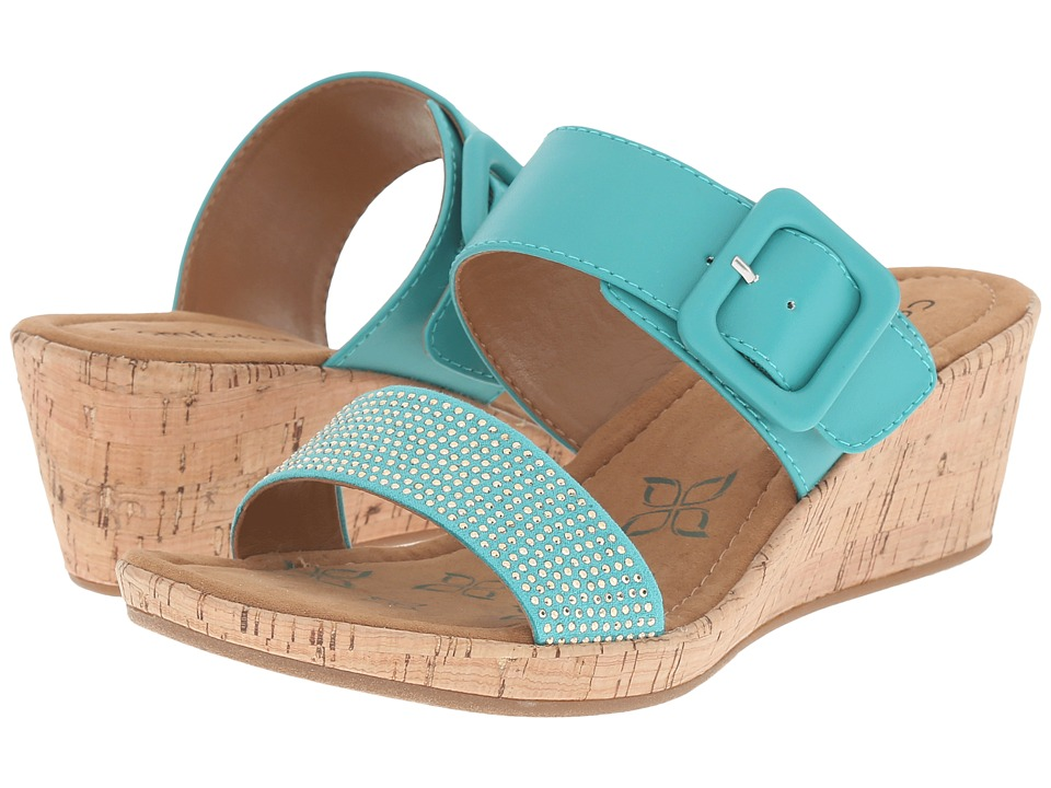 Comfortiva - Sherry (Aqua Sheep Nappa PU) Women's Wedge Shoes