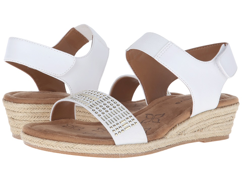 Comfortiva - Beck (White Sheep Nappa PU) Women's Wedge Shoes