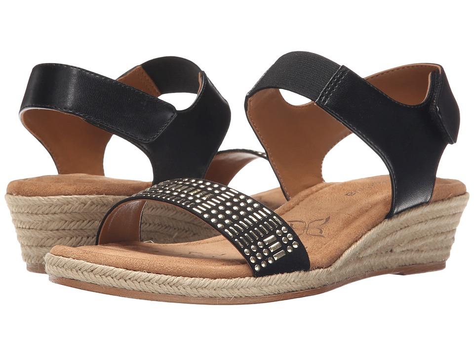 Comfortiva - Beck (Black Sheep Nappa PU) Women's Wedge Shoes