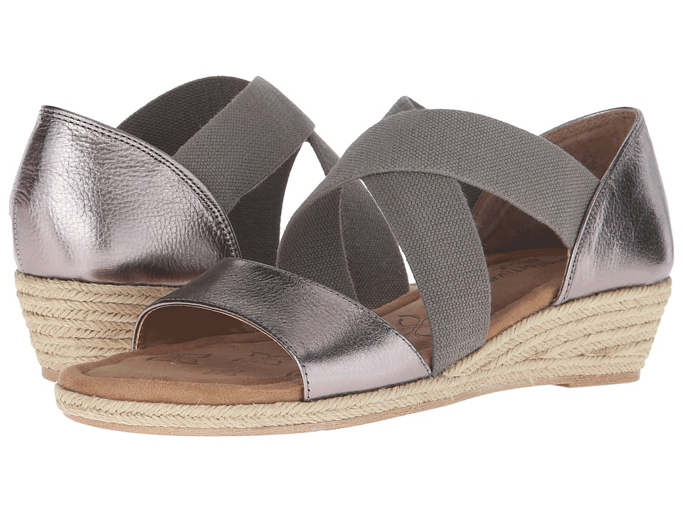 Comfortiva Brye (Anthracite Cow Metallic) Women's Wedge Shoes